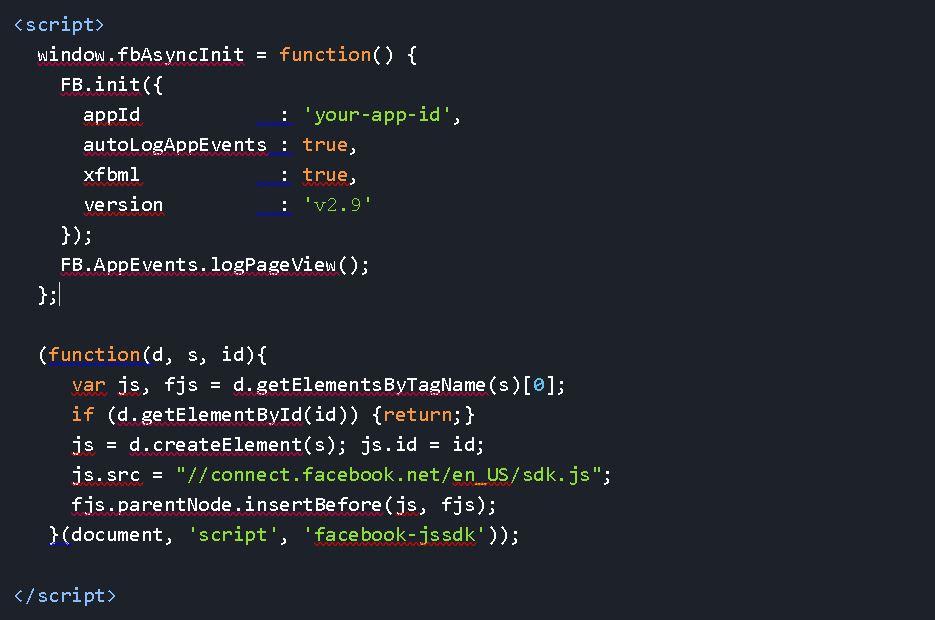 Facebook Login auf eigener Seite - JS Code